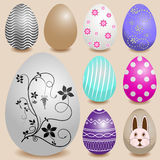 Set of color Easter eggs Stock Photos