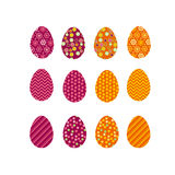 Set of color Easter eggs. Traditional symbol of Easter Royalty Free Stock Photos
