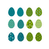 Set of color Easter eggs. Traditional symbol of Easter Stock Image