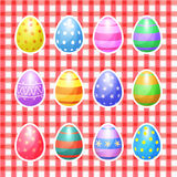 Set of color Easter eggs vector icons. Easter eggs Royalty Free Stock Photo