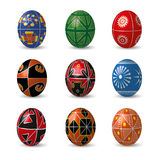 Set of color Easter eggs. Royalty Free Stock Images