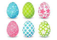 Set of color Easter eggs Royalty Free Stock Photos