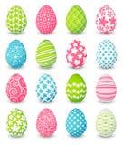 Set of color Easter eggs royalty free illustration