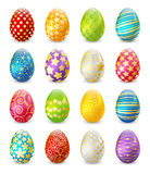 Set of color Easter eggs Royalty Free Stock Photography