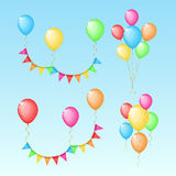 Set of color elements for Birthday Stock Image