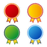 Set of  color empty badges Stock Photos