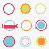 Set of color empty labels. Royalty Free Stock Images