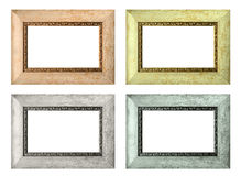 Set of color empty picture frames isolated Royalty Free Stock Photo