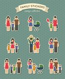 Set of color family icons. Set of color family  parent kids icons stickers for scrapbook  vector illustration Royalty Free Stock Image