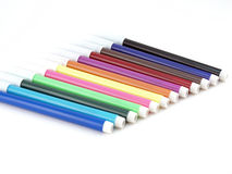 Set of color felt-tip pens Royalty Free Stock Images