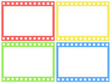 Set of color film strip. On white Royalty Free Stock Images