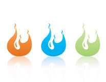 Set of color  flames Royalty Free Stock Image