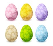 Set of color Easter eggs Stock Images