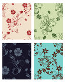 Set of color flowers backgrounds. Floral seamless vector color backgrounds set.  For easy making seamless pattern just drag all group into swatches bar, and use Royalty Free Stock Images