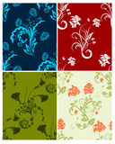 Set of color flowers backgrounds Stock Photography