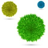 Set color fluffy vector ball on white. Background Stock Photography