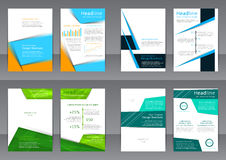 Set of the color flyers, cover with place for text Royalty Free Stock Photos