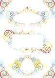 Set of color frame design Royalty Free Stock Image