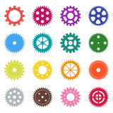 Set of color gear wheels, vector illustration Royalty Free Stock Photo