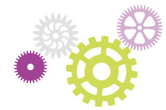 Set of color gears Stock Photography