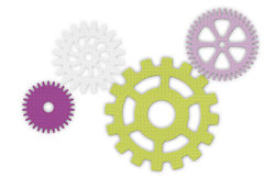 Set of color gears Royalty Free Stock Image