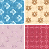 Set - color geometric patterns seamless - eps Stock Photo