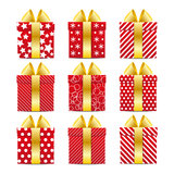 Set of color gift boxes Royalty Free Stock Image