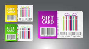 Set of color gift cards. Royalty Free Stock Photos