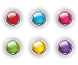 Set of color glass buttons stock illustration