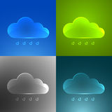 Set of color glass clouds. Royalty Free Stock Photos