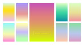 A set of color gradients for the background and wallpaper of the screen and screen. Modern design. And colors Stock Photography