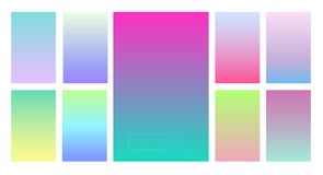 A set of color gradients for the background and wallpaper of the screen and screen. Modern design. And colors Royalty Free Stock Image