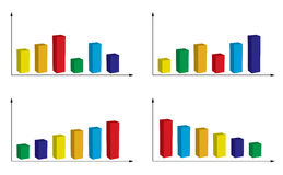Set of color graphs - vector Royalty Free Stock Photo