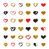 Set of Color hearts. Vector Illustration for valentine's day. Stock Photos