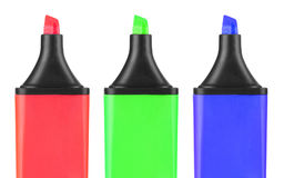 A set of color highlighters Stock Images