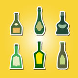 Set of color icons with bottles Stock Image