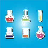 Set of color icons with containers for chemical goods Stock Photo