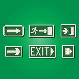Set of color icons with exit signs. For your design Stock Photos