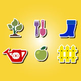 Set of color icons with Horticulture Royalty Free Stock Images