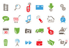 Set - color icons for web and communications. Vector illustration - a set of icons  for web and communications Stock Photos