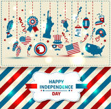 Set of color independence day. Vector icons Stock Image