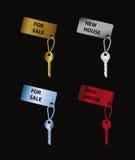 Set of color keys Stock Photo