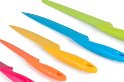 A set of color knives Royalty Free Stock Images