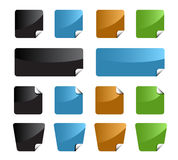 Set of color labels Royalty Free Stock Photo