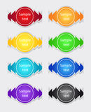 Set of color labels Stock Photography