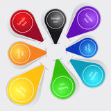 Set of color labels Royalty Free Stock Photos