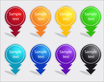 Set of color labels Stock Images