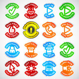Set of color labels. Royalty Free Stock Photo