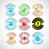 Set of color labels. Royalty Free Stock Photos