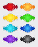 Set of color labels Royalty Free Stock Images
